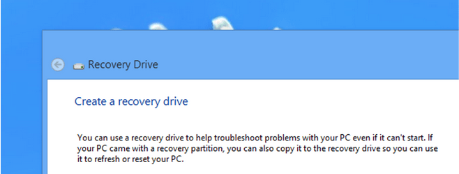What is a Recovery Drive on Windows