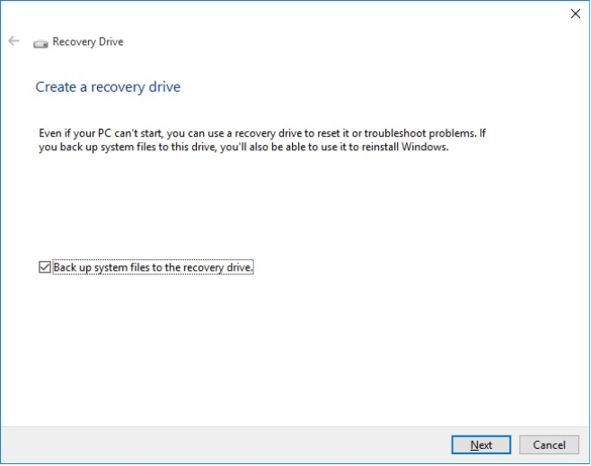 Recovery Drive is Full Error